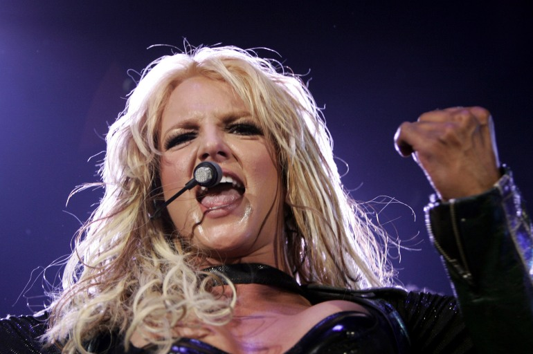 U.S. SINGER BRITNEY SPEARS PERFORMS DURING A CONCERT IN ZURICH.