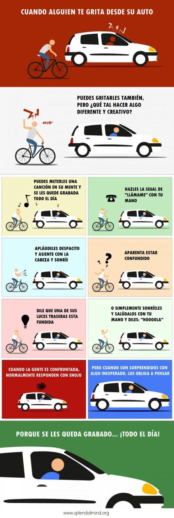 Esta Imagen Te Explica Qué Hacer Cuando Alguien Te Insulta En La Carretera Splendidmind
